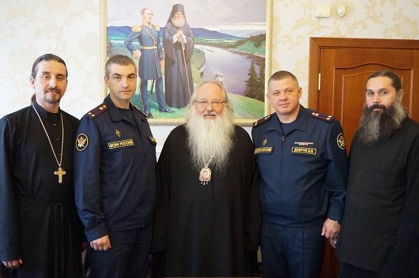 состоялась рабочая встреча архиепископа Тихона с врио начальника управления